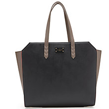 Buy Paul's Boutique Ally Colourblock Tote Bag, Black / Cream Online at johnlewis.com