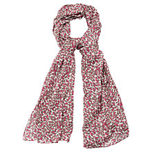 Buy Viyella Animal Print Scarf, Ivory Online at johnlewis.com
