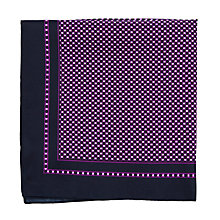 Buy BOSS Geometric Print Silk Pocket Square, Purple Online at johnlewis.com