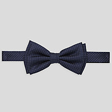 Buy BOSS Small Polka Dot Bow Tie, Dark Blue Online at johnlewis.com