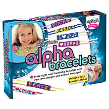 Buy myStyle Design & Make Alpha Bracelets Kit Online at johnlewis.com
