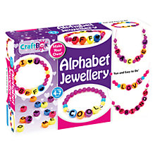 Buy Craft Box Make Your Own Alphabet Jewellery Kit Online at johnlewis.com