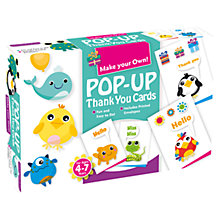 Buy Make Your Own Pop-Up Thank You Cards Kit Online at johnlewis.com