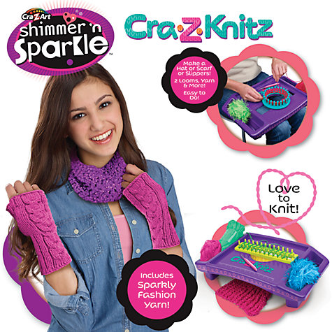 Buy Cra-Z-Knitz Shimmer 'n' Sparkle Kit Online at johnlewis.com