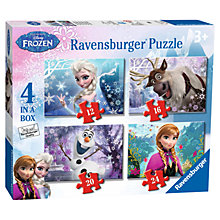 Buy Ravensburger Disney Frozen Jigsaw Puzzle, Box of 4 Online at johnlewis.com