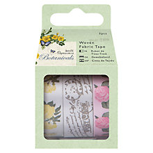 Buy Docrafts Botanical Fabric Tape, 1m, Pack of 3 Online at johnlewis.com