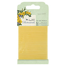 Buy Docrafts Botanicals Silk Ribbon, 5m, Yellow Online at johnlewis.com