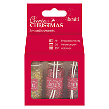 Buy Docrafts Create Christmas Beads And Glitter Pack, Red Online at johnlewis.com