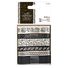 Buy Docrafts Ribbon, 1m, Pack of 6, Midnight Blush/Oyster Online at johnlewis.com