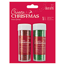 Buy Docrafts Create Christmas Glitter, Pack Of 2, Red/Green Online at johnlewis.com