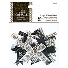 Buy Docrafts Large Ribbon Bows, Pack of 12, Midnight Blush Online at johnlewis.com