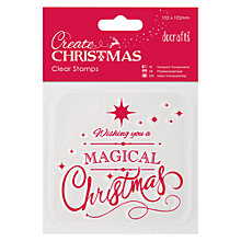 Buy Docrafts Create Christmas Clear Stamp Merry Christmas Online at johnlewis.com