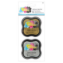 Buy Docrafts Metallic Ink Pad, Pack Of 2, Gold/Silver Online at johnlewis.com