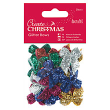 Buy Docrafts Create Christmas Glitter Bows, Pack Of 20 Online at johnlewis.com
