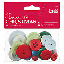 Buy Docrafts Create Christmas Traditional Buttons, 50g Online at johnlewis.com
