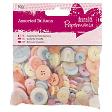 Buy Docrafts Pastel Buttons, 50g Online at johnlewis.com
