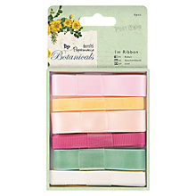 Buy Docrafts Botonicals Ribbon, 1m, Pack of 6, Assorted Online at johnlewis.com