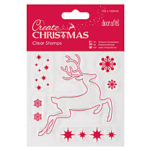 Buy Docrafts Create Christmas Clear Stamp Reindeer Online at johnlewis.com
