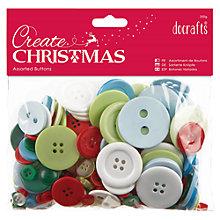 Buy Docrafts Christmas Buttons, Assorted Online at johnlewis.com