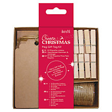 Buy Docrafts Peg Gift Tag Kit, Pack of 24 Online at johnlewis.com