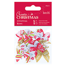 Buy Docrafts Create Christmas Christmas Bows, Pack Of 20 Online at johnlewis.com