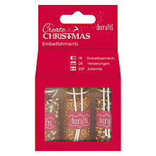 Buy Docrafts Create Christmas Beads And Glitter Pack, Gold Online at johnlewis.com