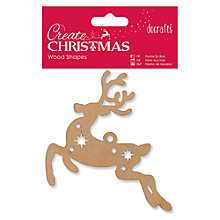 Buy Docrafts Create Christmas Wood Shapes Reindeer, Pack Of 1 Online at johnlewis.com