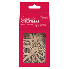 Buy Docratfs Create Christmas Wood Shapes Words, Pack Of 10 Online at johnlewis.com