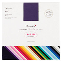 "Buy Docrafts 8x8"" Solid Cardstock, Pack of 75 Online at johnlewis.com"