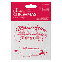 Buy Docrafts Create Christmas Clear Stamp Christmas Online at johnlewis.com