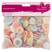 Buy Docrafts Pastel Buttons, 250g Online at johnlewis.com