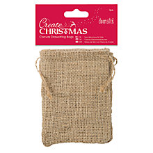Buy Docrafts Create Christmas Drawstring Bags, Pack Of 3 Online at johnlewis.com