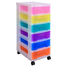 Buy Really Useful 6x7 Drawer Tower Unit, Multi Online at johnlewis.com