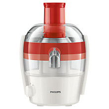 Buy Philips HR1832/41 Compact Viva Collection Juicer, Red Online at johnlewis.com