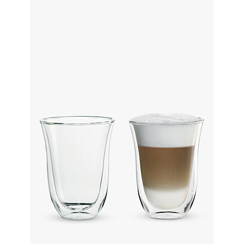 buy de longhi latte macchiato glasses set of 2 john lewis. Black Bedroom Furniture Sets. Home Design Ideas