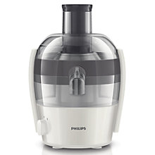 Buy Philips HR1832/31 Compact Viva Collection Juicer, White Online at johnlewis.com