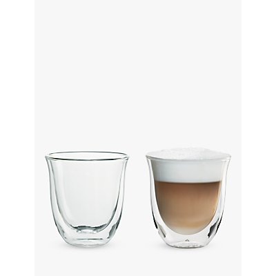 De'Longhi Cappuccino Glasses, Set of 2