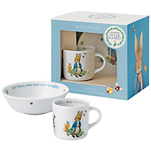 Buy Beatrix Potter Peter Rabbit Wedgwood 2 Piece Nursery Set Online at johnlewis.com