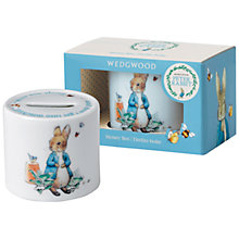 Buy Beatrix Potter Peter Rabbit Wedgwood Money Box Online at johnlewis.com
