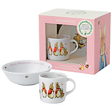 Buy Peter Rabbit Wedgwood Flopsy, Mopsy and Cotton-Tail 2 Piece Nursery Set Online at johnlewis.com