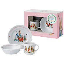 Buy Beatrix Potter Peter Rabbit Wedgwood Flopsy, Mopsy and Cotton-Tail 3 Piece Nursery Set Online at johnlewis.com
