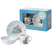 Buy Beatrix Potter Peter Rabbit Wedgwood 3 Piece Nursery Set Online at johnlewis.com