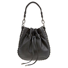 Buy Mint Velvet Gemma Duffle Bag, Charcoal Online at johnlewis.com
