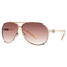 Buy Christian Dior Chicago 2 UPUFM Aviator Sunglasses, Brown Online at johnlewis.com