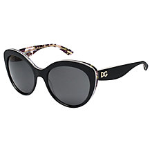 Buy Dolce & Gabbana DG4236 Cat's Eye Sunglasses, Black Online at johnlewis.com