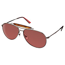 Buy Gucci GG2235/S Metal Aviator Sunglasses Online at johnlewis.com