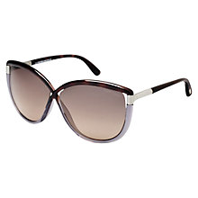 Buy TOM FORD FT0327 Cat's Eye Sunglasses, Silver Online at johnlewis.com