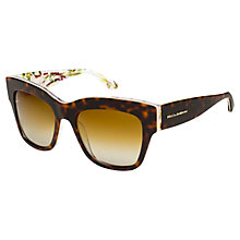 Buy Dolce & Gabbana DG4231 Polarised Square Frame Sunglasses, Tortoiseshell Online at johnlewis.com