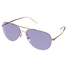 Buy Gucci GG2245/S Techno Colour Ultralight Aviator Sunglasses, Gold Online at johnlewis.com