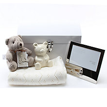 Buy John Lewis Baby Small Gift Hamper Set, Cream Online at johnlewis.com